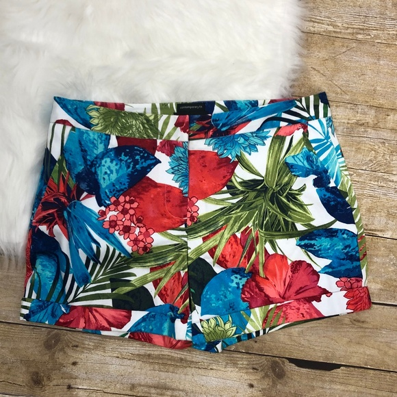 attention Pants - Attention Tropical Floral Shorts